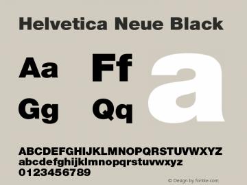 Helvetica Neue Black Version 001.001 Font Sample