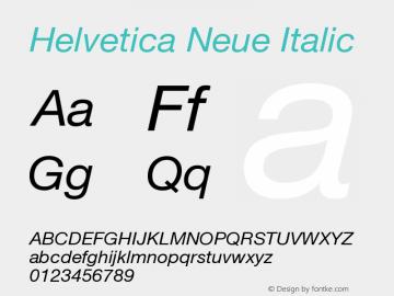 Helvetica Neue Italic Version 001.101图片样张