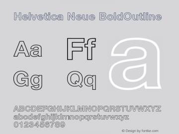 Helvetica Neue BoldOutline Version 001.000图片样张