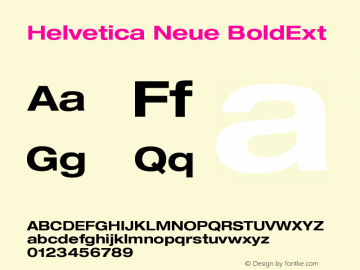 Helvetica Neue BoldExt Version 001.000图片样张