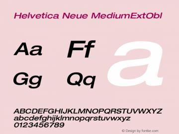 Helvetica Neue MediumExtObl Version 001.000图片样张