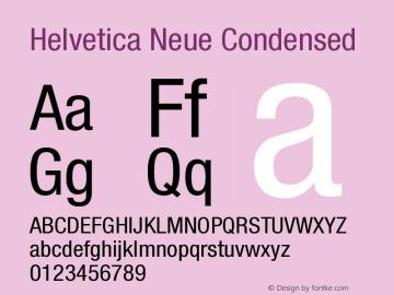 Helvetica Neue Condensed Version 001.000 Font Sample