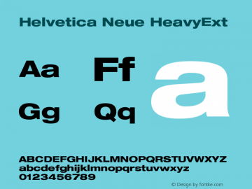 Helvetica Neue HeavyExt Version 001.000图片样张