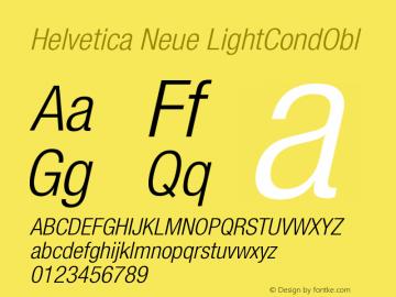 Helvetica Neue LightCondObl Version 001.000图片样张