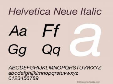Helvetica Neue Italic Version 001.102图片样张