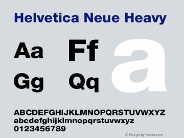 Helvetica Neue Heavy Version 001.000 Font Sample