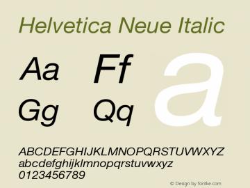 Helvetica Neue Italic Version 001.000图片样张
