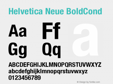 Helvetica Neue BoldCond Version 001.000图片样张