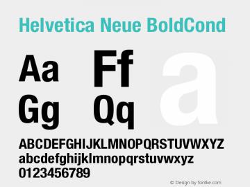 Helvetica Neue BoldCond Version 001.000 Font Sample