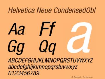 Helvetica Neue CondensedObl Version 001.000图片样张