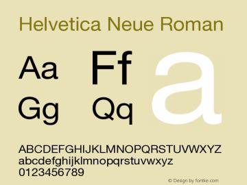Helvetica Neue Roman Version 001.102图片样张