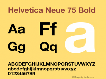 Helvetica Neue 75 Bold OTF 1.0;PS 001.102;Core 1.0.22 Font Sample