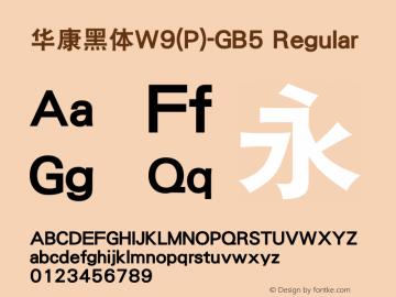 華康黑體W9(P)-GB5 Regular Version 2.00图片样张