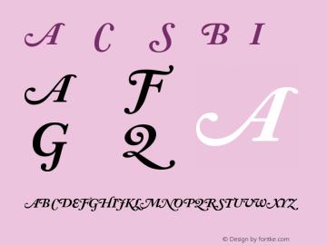 Adobe Caslon SwashBoldItalic Version 001.002 Font Sample