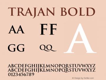 Trajan Bold Version 001.000 Font Sample