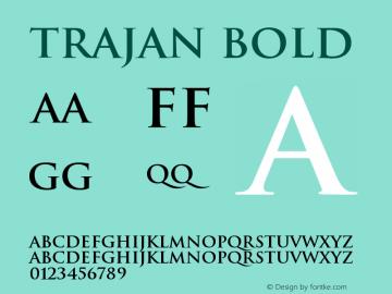 Trajan Bold Version 001.001 Font Sample