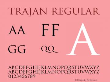 Trajan Regular Version 001.001 Font Sample