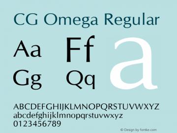 CG Omega Regular Version 1.00 Font Sample