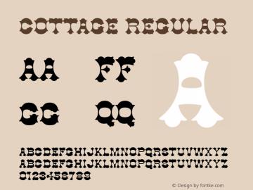 Cottage Regular Unknown Font Sample