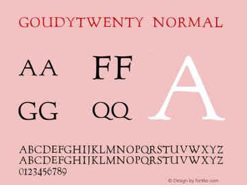 GoudyTwenty Normal Version 001.023图片样张