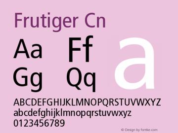 Frutiger Cn Version 001.000 Font Sample