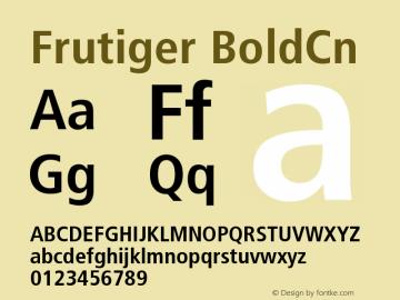 Frutiger BoldCn Version 001.000 Font Sample