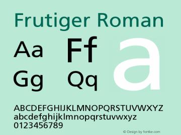 Frutiger Roman Version 001.000 Font Sample