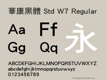 華康黑體 Std W7 Regular Version 1.03图片样张