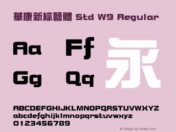 華康新綜藝體 Std W9 Regular Version 1.03图片样张