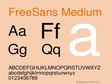 FreeSans Medium Version $Revision: 1.256 $ Font Sample