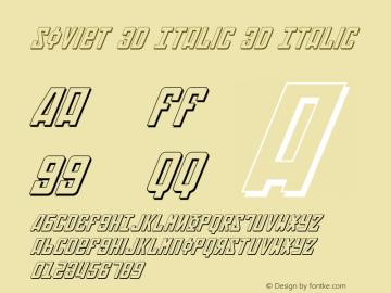 Soviet 3D Italic 3D Italic 2 Font Sample