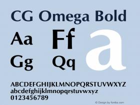 CG Omega Bold Version 1.00 Font Sample