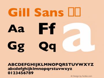 Gill Sans 粗体 8.0d3e1 Font Sample