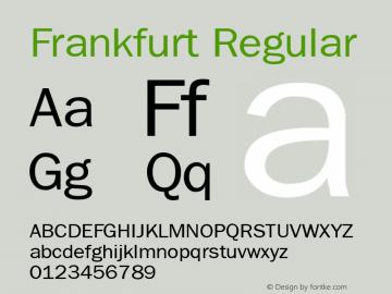 Frankfurt Regular Publisher's Paradise -- Media Graphics International Inc. Font Sample