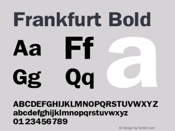 Frankfurt Bold Publisher's Paradise -- Media Graphics International Inc. Font Sample