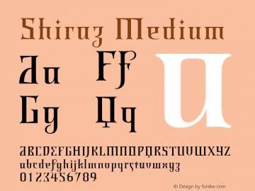 Shiraz Medium 001.000 Font Sample