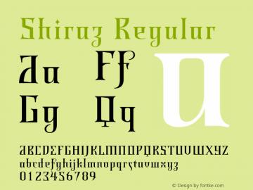 Shiraz Regular 001.000 Font Sample