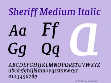Sheriff Medium Italic 001.000图片样张