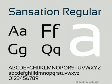 Sansation Regular Version 1.3 Font Sample