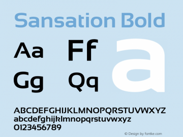 Sansation Bold Version 1.2 Font Sample