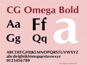 CG Omega Bold Version 1.02a Font Sample