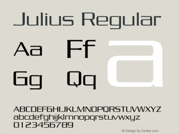 Julius Regular The IMSI MasterFonts Collection, tm 1995 IMSI Font Sample