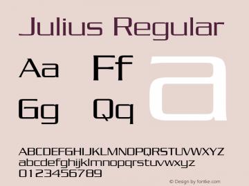 Julius Regular Publisher's Paradise -- Media Graphics International Inc. Font Sample