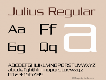 Julius Regular The IMSI MasterFonts Collection, tm 1995, 1996 IMSI (International Microcomputer Software Inc.) Font Sample