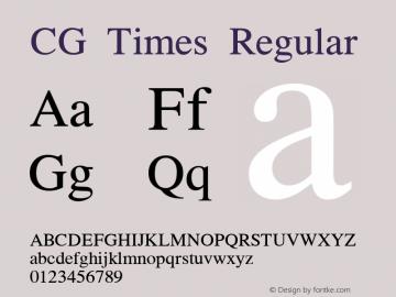CG Times Regular Version 0.92 Font Sample