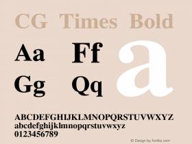 CG Times Bold Version 0.93 Font Sample