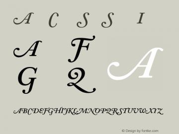 Adobe Caslon SwashSemiboldItalic Version 001.002 Font Sample