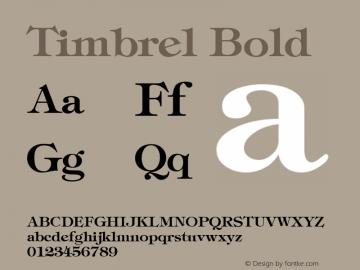 Timbrel Bold The IMSI MasterFonts Collection, tm 1995, 1996 IMSI (International Microcomputer Software Inc.) Font Sample