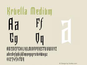 Kruella Medium Version 001.000图片样张