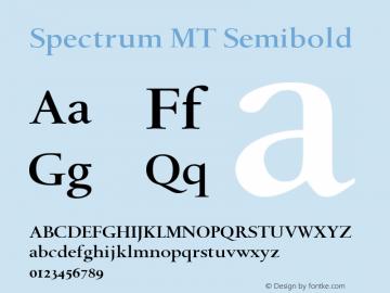 Spectrum MT Semibold 001.003图片样张
